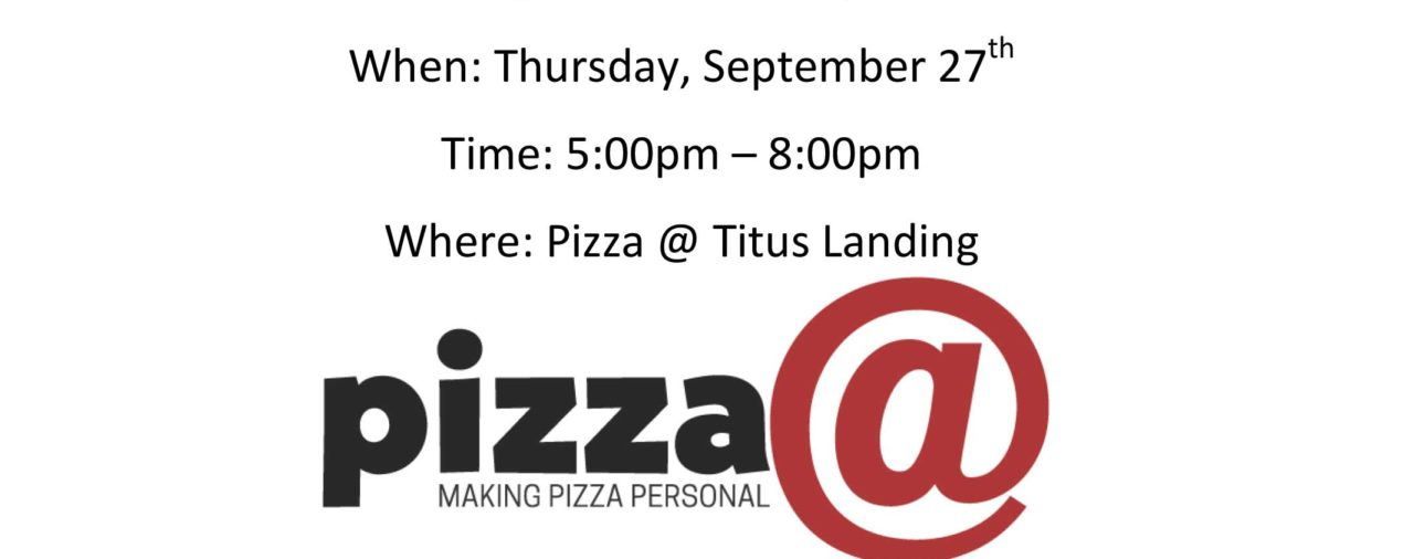 Pizza @ Titus Landing Fundraising Night - September 27th