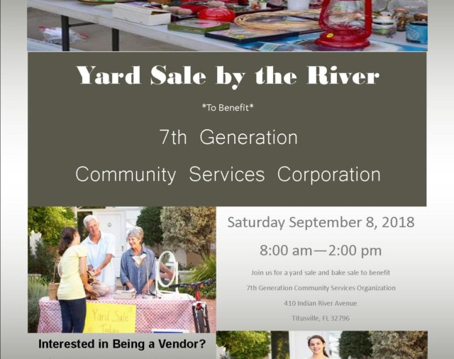 Yard Sale by the River - September 8th