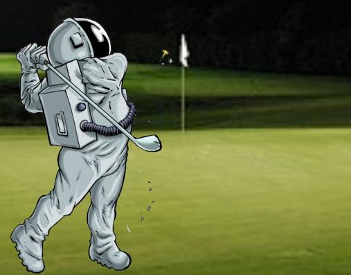 Astronaut Golfing